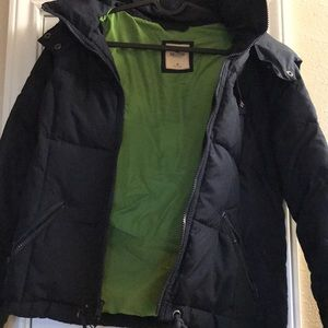 Hooded Down Feather Hollister Winter Coat